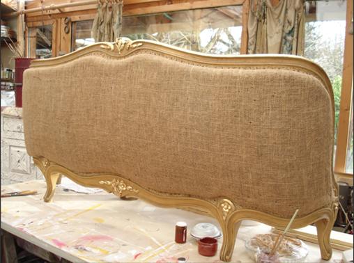 annie v ne peintre d co dorure sur bois lit corbeille patin. Black Bedroom Furniture Sets. Home Design Ideas